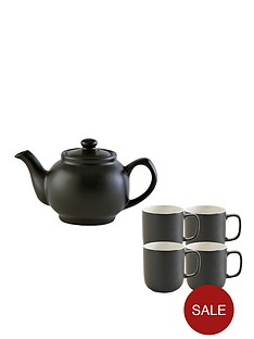 price-kensington-6-cup-teapot-and-4-mugs-black