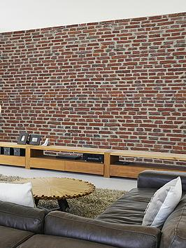 1wall-rustic-red-brick-wall-mural