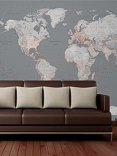 1wall-modern-silver-map-wall-mural