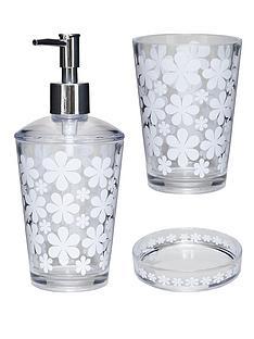 aqualona-cirque-de-fleur-3-pack-lotion-bottle-tumbler-and-soap-dish