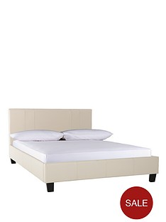 seattle-faux-leather-double-bed-frame
