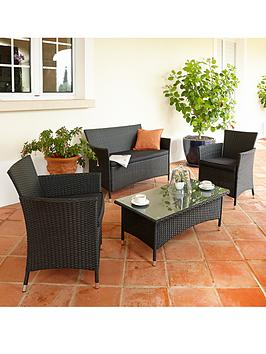palermo-wicker-conversation-set-with-next-day-delivery-black