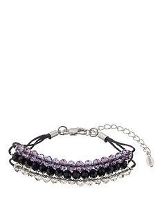 fiorelli-three-tone-beaded-cord-bracelet
