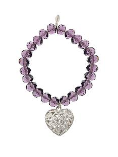fiorelli-amethyst-tone-bead-charm-elasticated-bracelet