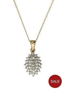 love-diamond-9-carat-yellow-gold-diamond-set-cluster-pendant