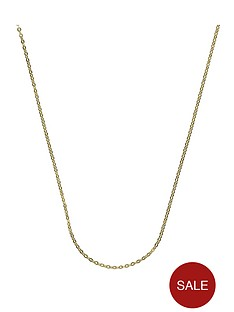 the-love-silver-collection-sterling-silver-and-9-carat-yellow-gold-boned-chain-22-inch