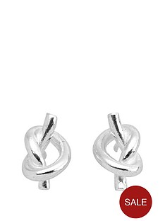 love-silver-sterling-silver-knot-stud-earrings