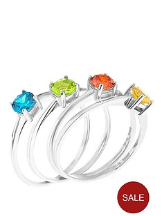 love-gem-sterling-silver-cubic-zirconia-4-piece-solitaire-ring-set