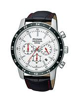 Chronograph Leather Strap Mens Watch