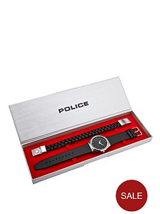 police-black-dial-and-leather-strap-mens-watch-and-bracelet-gift-set