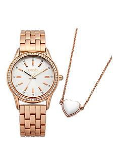 oasis-tone-set-rose-gold-watch-and-necklace-gift-set