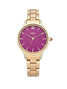oasis-pink-dial-gold-coloured-bracelet-ladies-watch