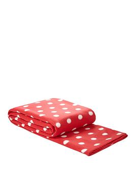 spot-printed-fleece-blanket-red