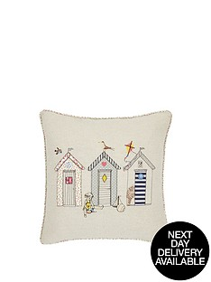 beach-huts-embroidered-cushion