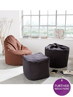 faux-suede-slouch-chair