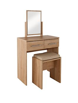 New Prague Dressing Table Stool And Mirror Set