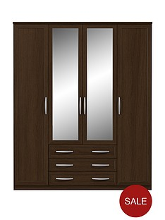 oslo-4-door-3-drawer-mirrored-wardrobe