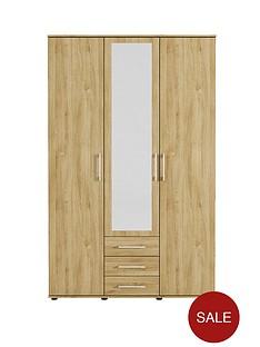 manhattan-3-door-3-drawer-mirrored-wardrobe