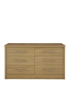 Consort New Liberty Ready Assembled 3 + 3 Chest of Drawers
