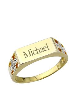 keepsafe-silver-and-9-carat-gold-plate-and-diamond-mens-personalised-signet-ring
