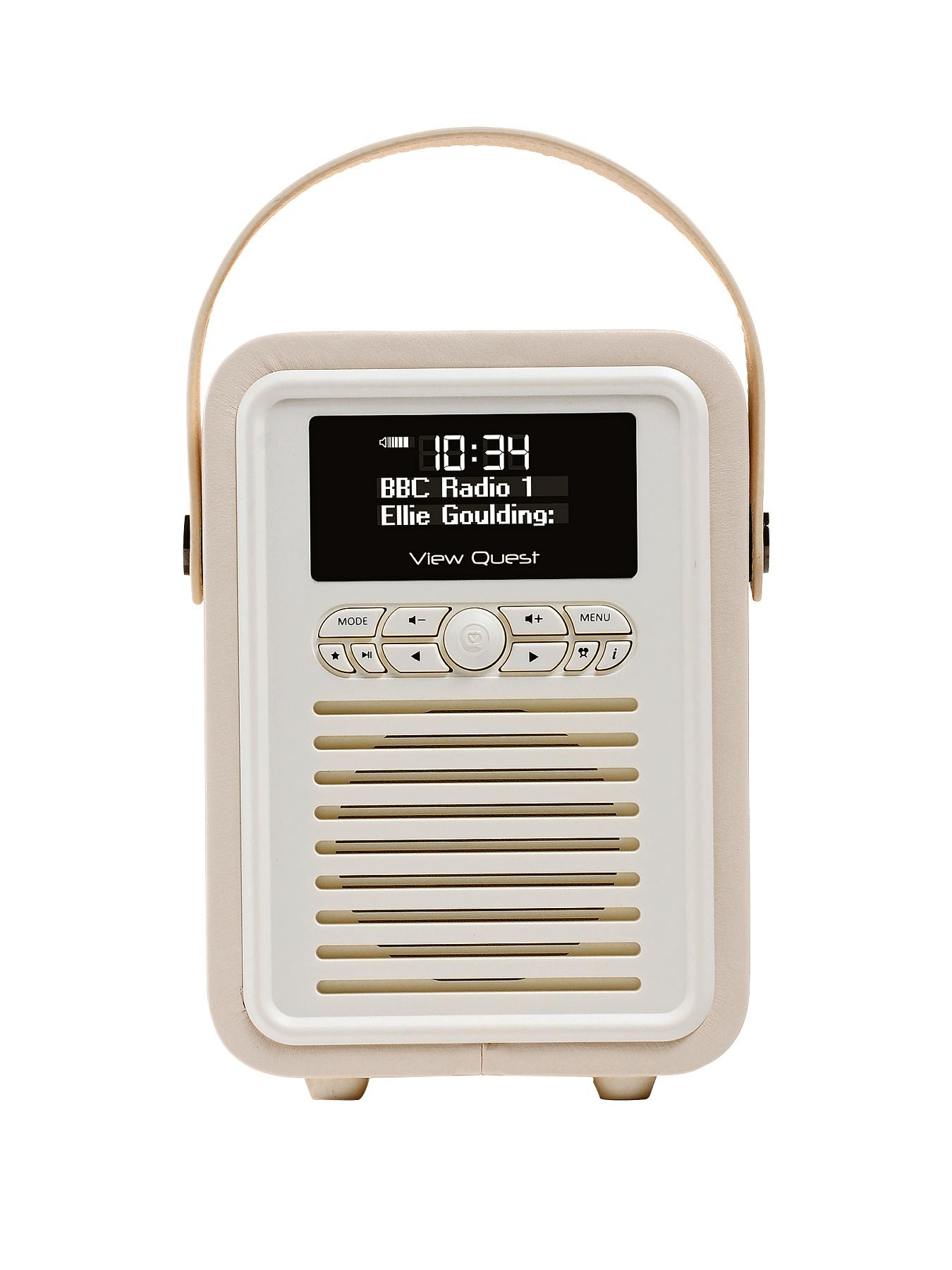 Retro Mini Radio Alarm Clock  Cream Cream