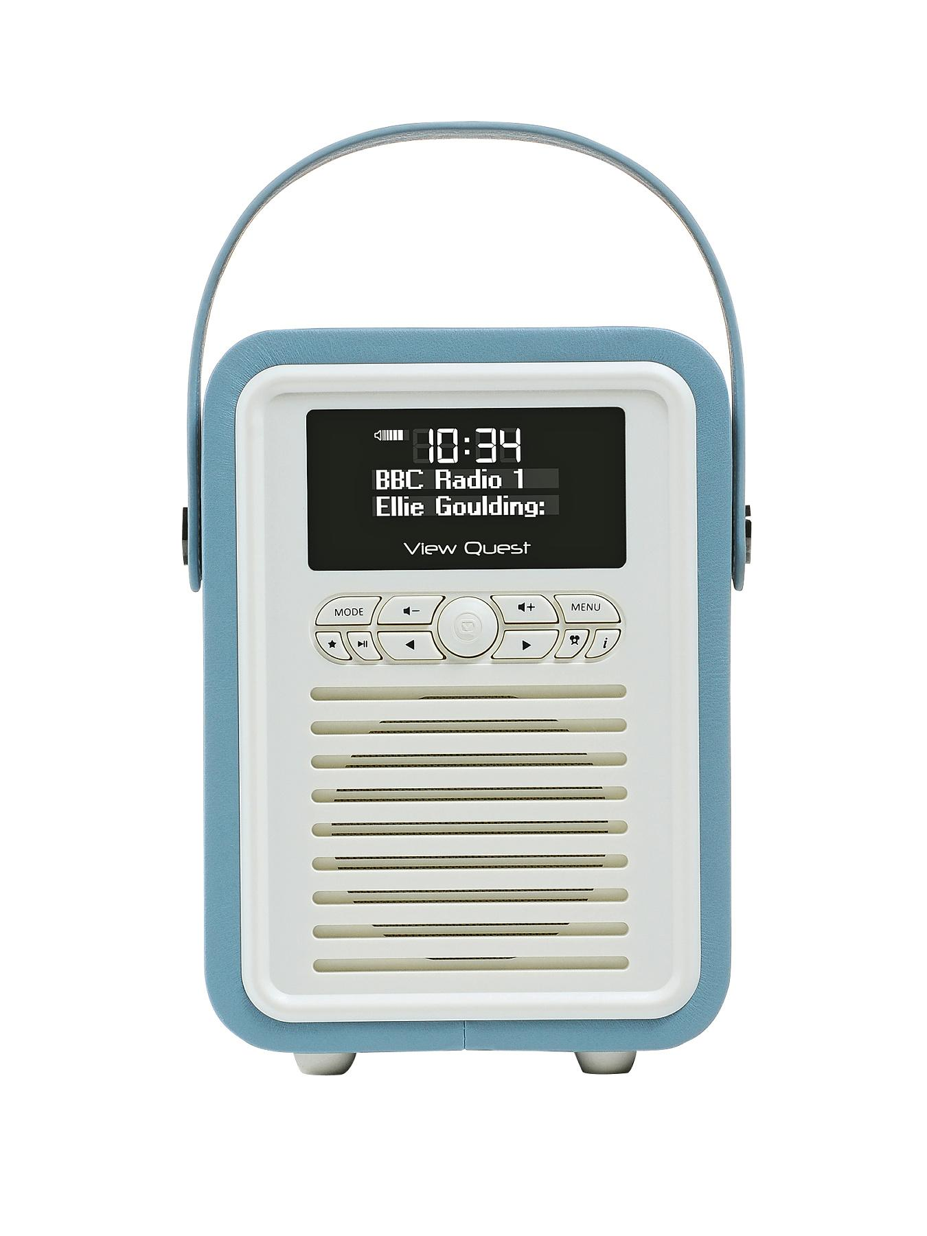 Retro Mini Radio Alarm Clock  Blue Blue