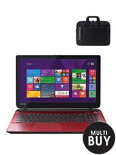 toshiba-l50-d-b-16r-amd-e1-processor-6gb-ram-1tb-hard-drive-wi-fi-156-inch-laptop-with-free-laptop-bag-red