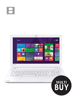 toshiba-l50-d-b-136-amd-a8-processor-8gb-ram-1tb-hard-drive-wi-fi-156-inch-laptop-with-optional-microsoft-office-365-personal-white
