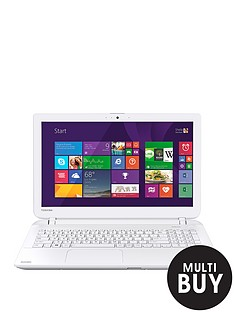toshiba-l50-d-b-13c-amd-a8-processor-8gb-ram-1tb-hard-drive-wi-fi-2gb-dedicated-graphics-156-inch-laptop-with-optional-microsoft-office-365-personal-white