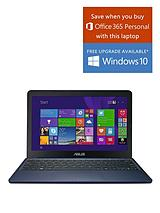 X205TA Intel® Atom™ Processor, 2Gb RAM, 32Gb Storage, Wi-Fi, 11.6 inch Laptop with Microsoft Office 365 Personal- Black