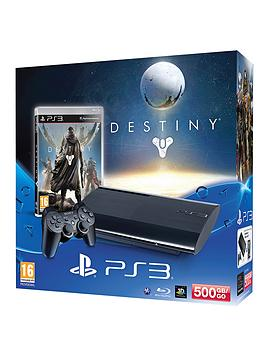 playstation-3-500gb-console-with-destiny-and-optional-3-or-12-months-playstation-plus