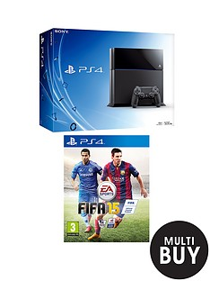 playstation-4-console-with-fifa-15-and-optional-dual-shock-4-controller-90-day-or-12-months-playstation-plus