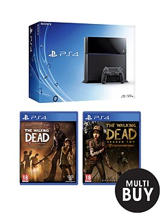 playstation-4-console-with-the-walking-dead-seasons-1-and-2-plus-optional-12-months-playstation-plus