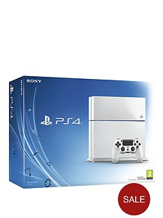 playstation-4-500gb-white-console-with-optional-12-months-playstation-plus-and-extra-controller