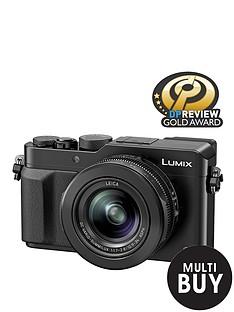 panasonic-pound50-cashbacksup1-dmc--lx100-ebk-128-megapixel-compact-camera-with-wifi-black