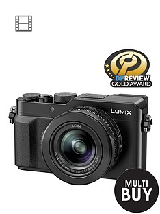 panasonic-pound50-cashbacksup1-dmc--lx100-ebk-128-megapixel-compact-camera-with-wifi-black