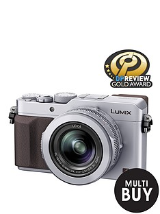 panasonic-pound50-cashbacksup1-dmc--lx100-ebs-128-megapixel-compact-camera-with-wifi-silver