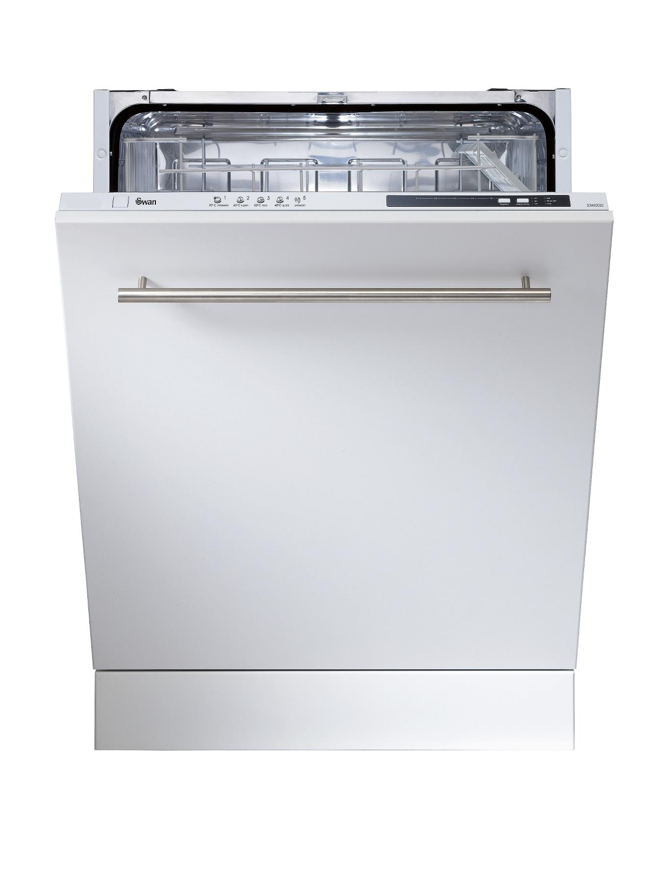 SDWB2020 12 Place Full Size Integrated Dishwasher - White at Littlewoods