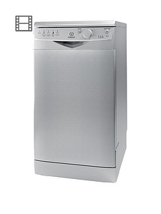 indesit-dsr15b-10-place-slimline-dishwasher-silver
