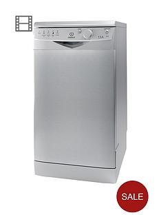 indesit-ecotime-dsr15bs-10-place-slimline-dishwasher-silver