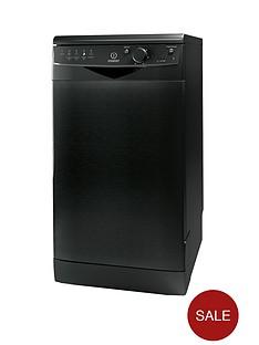 indesit-dsr15b-10-place-freestanding-slimline-dishwasher-black