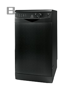 indesit-dsr15bk-10-place-freestanding-slimline-dishwasher-black