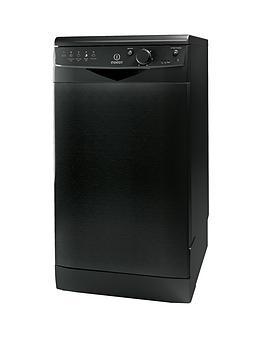 Indesit Ecotime Dsr15Bk 10Place Slimline Dishwasher  Black