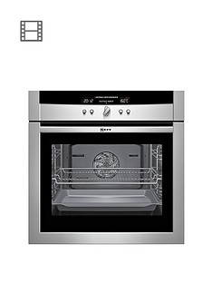 neff-b16p52n3gb-built-in-single-electric-oven-stainless-steel