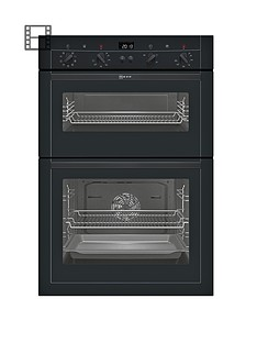 neff-u15m52s3gb-built-in-double-electric-oven-black