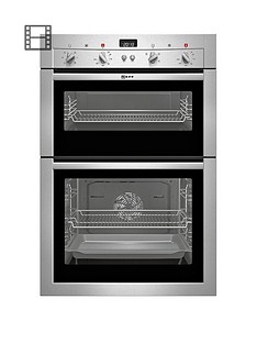 neff-u14m42n3gb-built-in-double-electric-oven-stainless-steel
