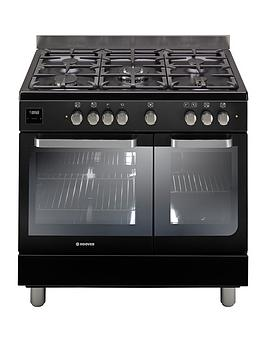 hoover-hgd9395bl-90cm-dual-fuel-range-cooker-twin-cavity-black