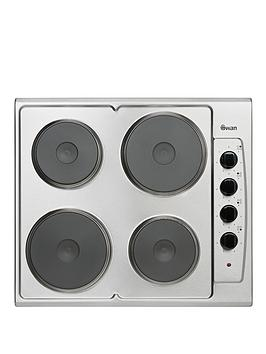 swan-sxb2040s-60cm-built-in-electric-hob-stainless-steel