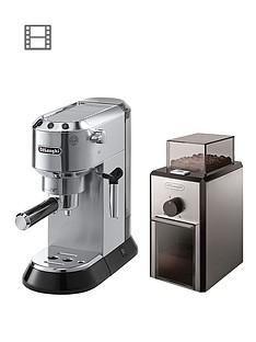 delonghi-ec680m-dedica-pump-machine-with-free-coffee-grinder-silver