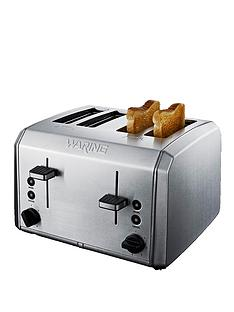 waring-wt400u-4-slice-toaster-brushed-stainless-steel
